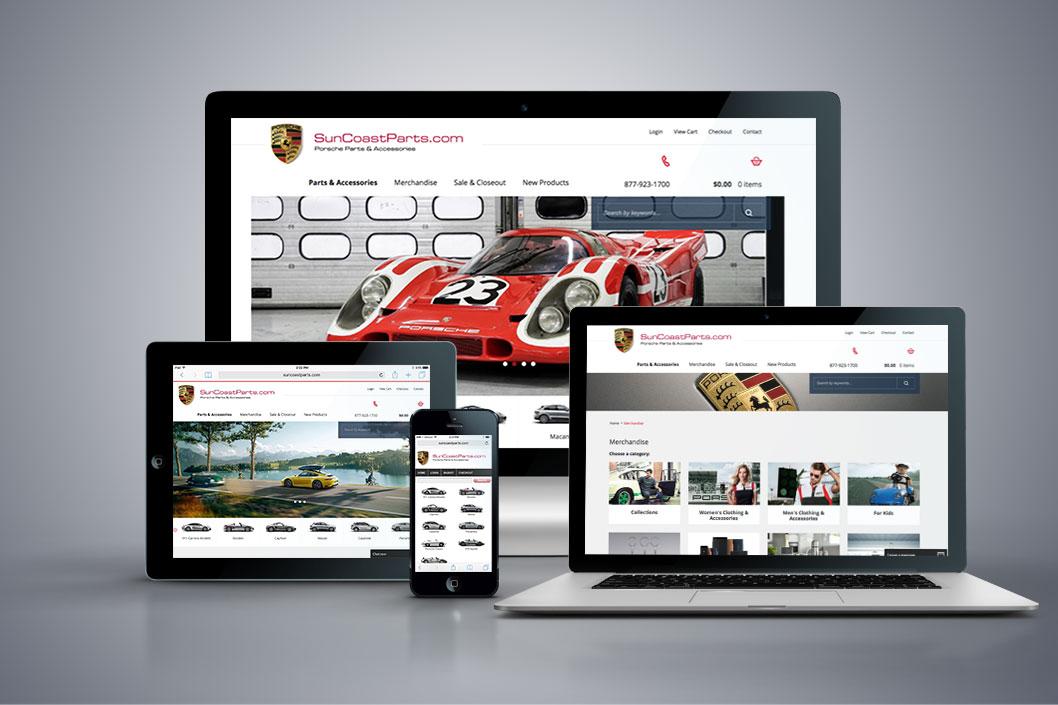 SuncoastParts.com - Miva Custom Design & Development - All Devices