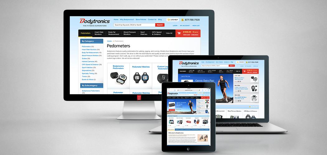 Bodytronics.com - Miva Ecommerce Development - All Devices