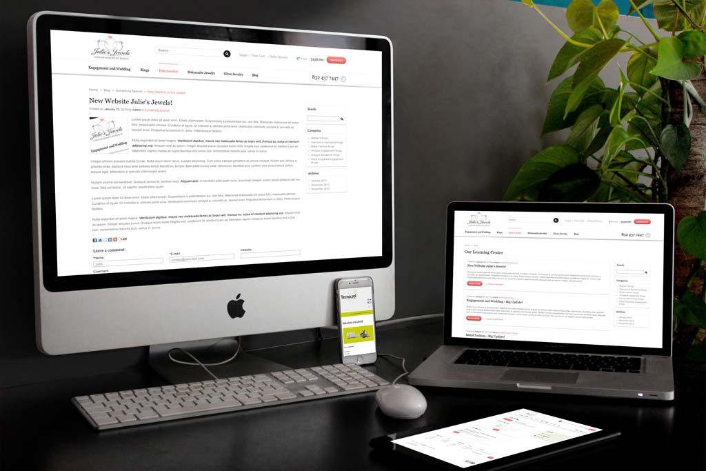 JuliesJewels.com - Miva Ecommerce Design & Development