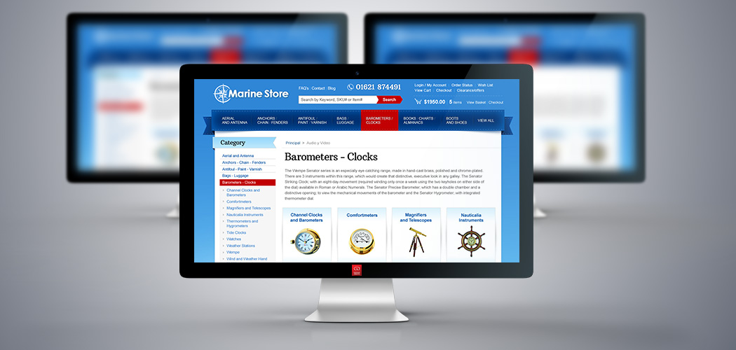 MarineStore.co.uk - Miva Custom Design - Desktop