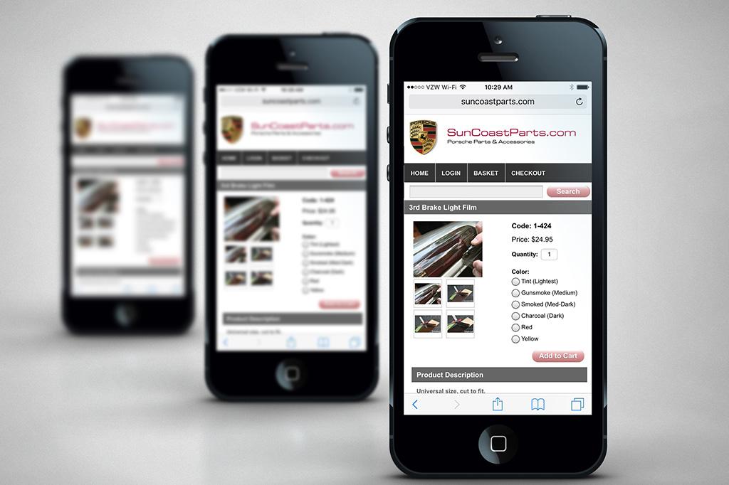SuncoastParts.com - Miva Custom Design & Development - Mobile