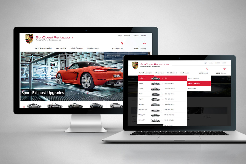 SuncoastParts.com - Miva Custom Design & Development - Desktop