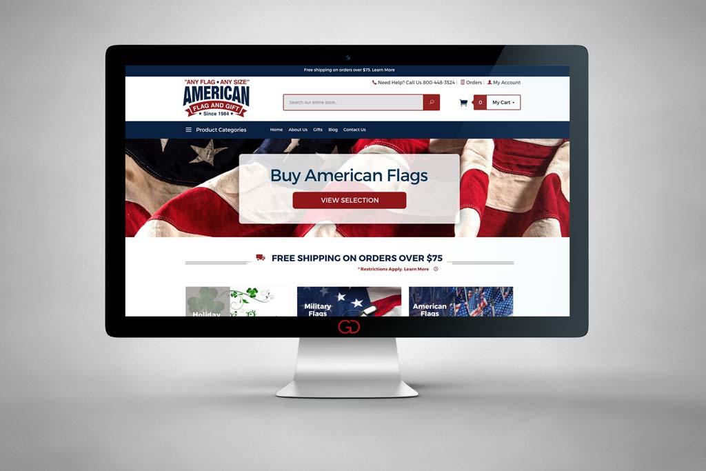 AnyFlag.com - Miva Ecommerce Design & Development - Desktop