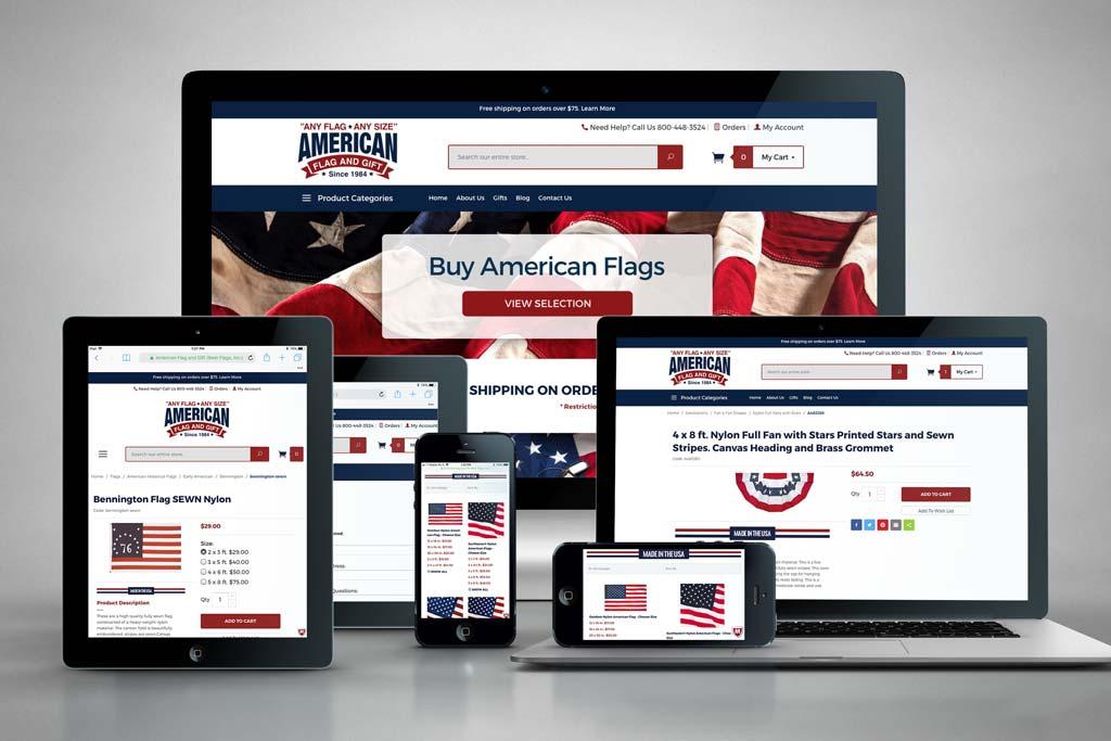 AnyFlag.com - Miva Ecommerce Design & Development - All Devices