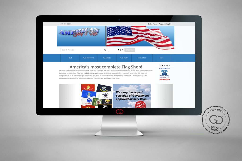 AnyFlag.com - Miva Ecommerce Design & Development - Before