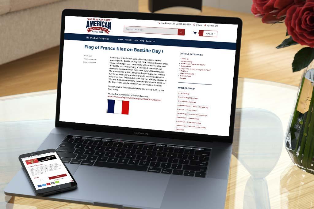 AnyFlag.com - Miva Ecommerce Design & Development