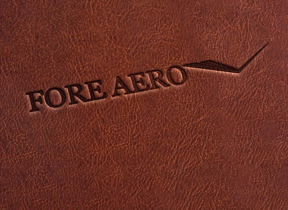 Fore Aero leather embossed