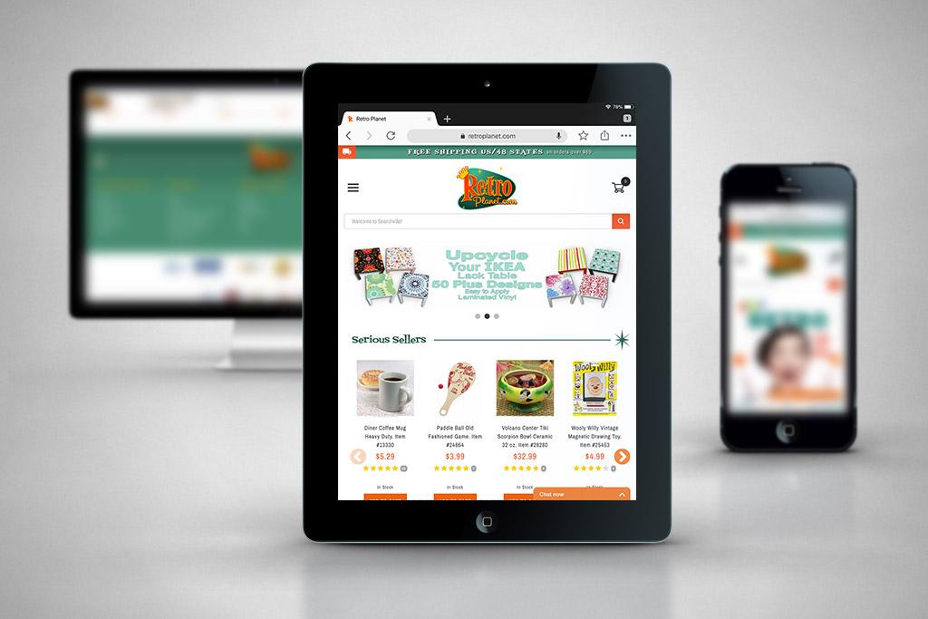 RetroPlanet.com – Miva Ecommerce Customization & Design