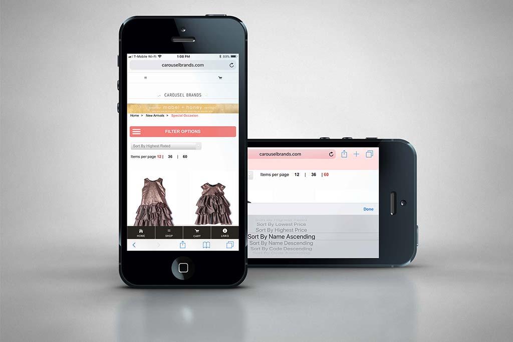 CarouselBrands.com - Miva Ecommerce Customization - Mobile