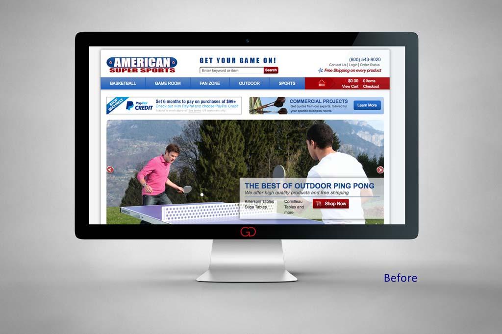 AmericanSuperSports.com - Miva Ecommerce Design - Before