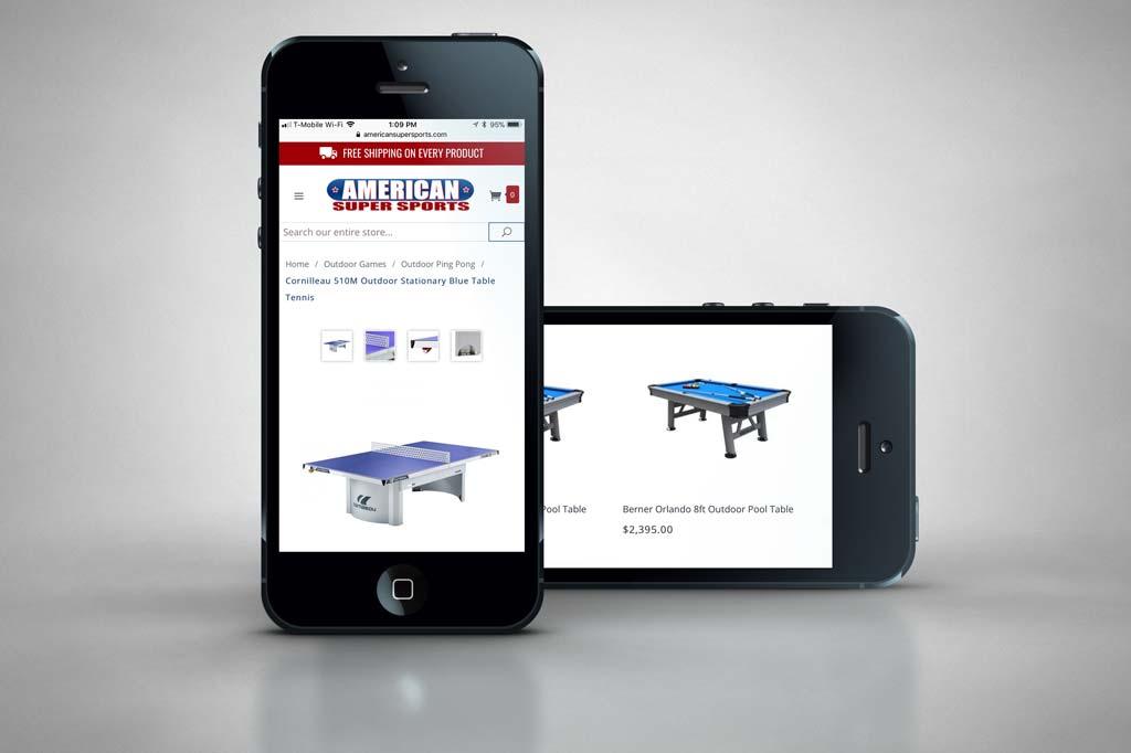 AmericanSuperSports.com - Miva Ecommerce Design Mobile