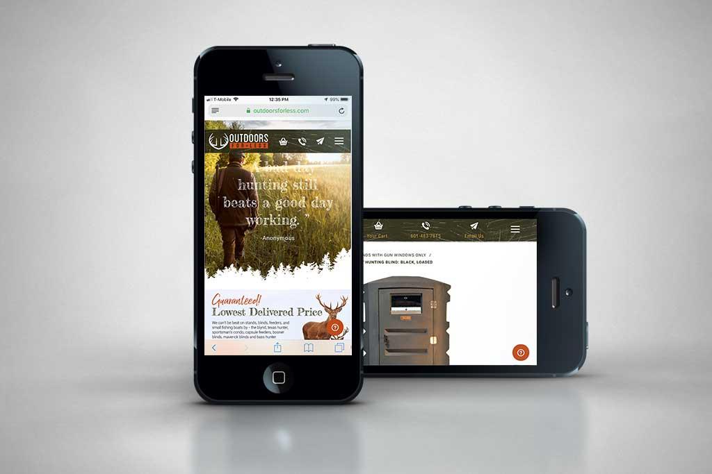 OutdoorsForLess com - Miva Ecommerce Design - Glendale Designs