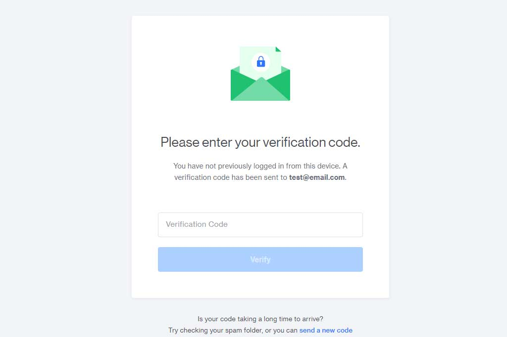 email code