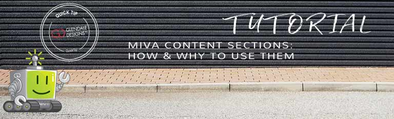 Using Miva Content Sections