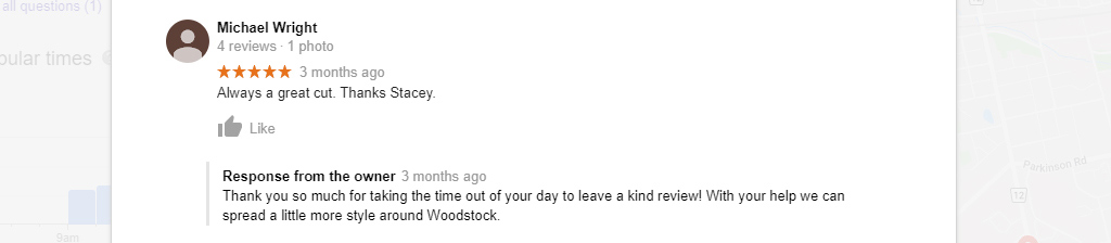 A positive customer review