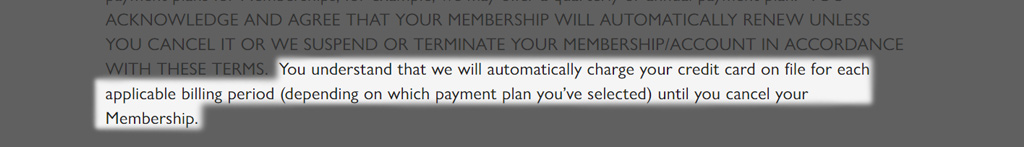 Causebox Membership payment rules
