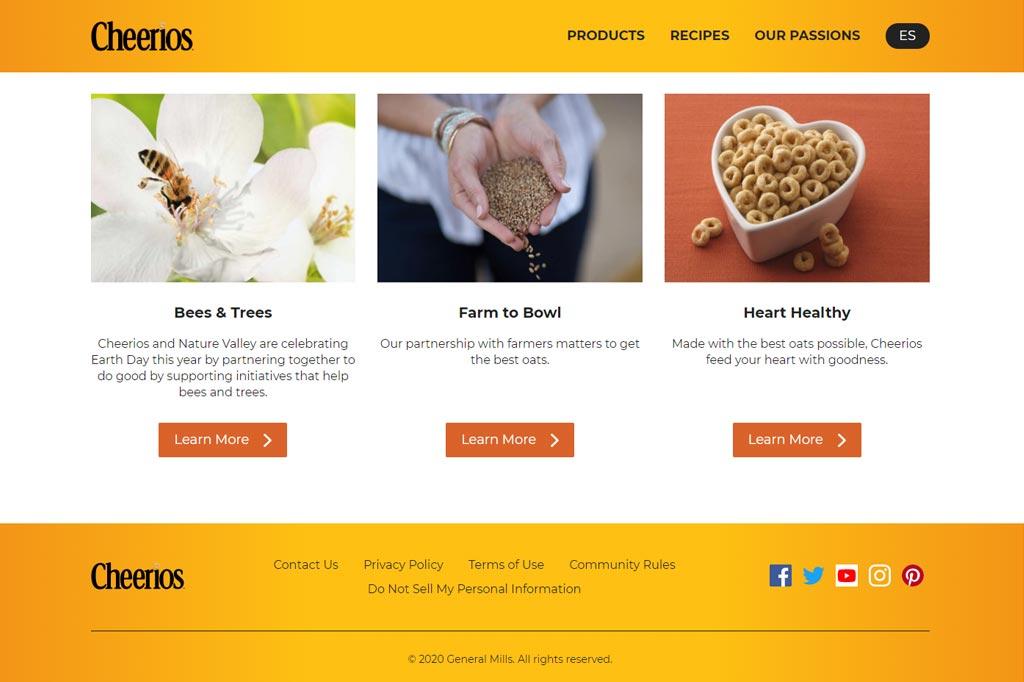 Cheerios Website