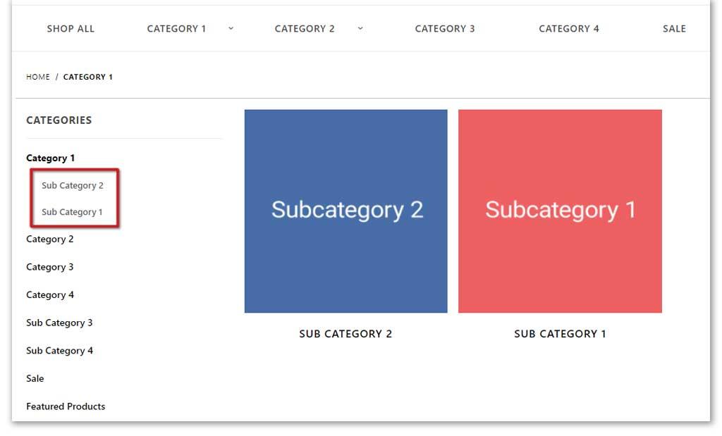 Sort your subcategories 2