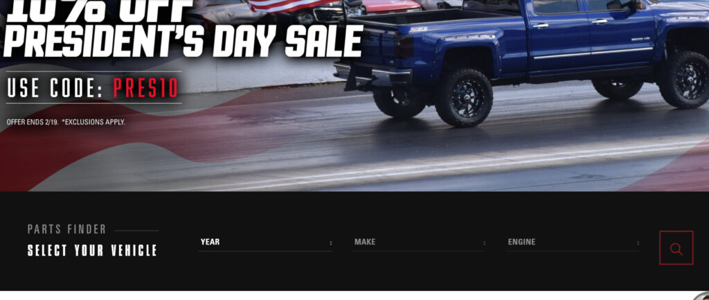 image of presidents day sale