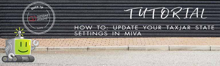 Update your TaxJar State settings in Miva