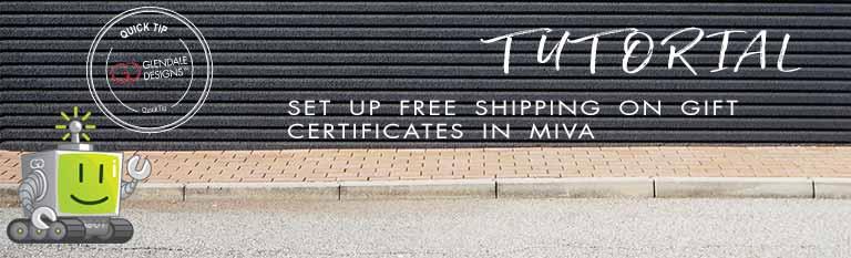 Miva Free Gift Certificates