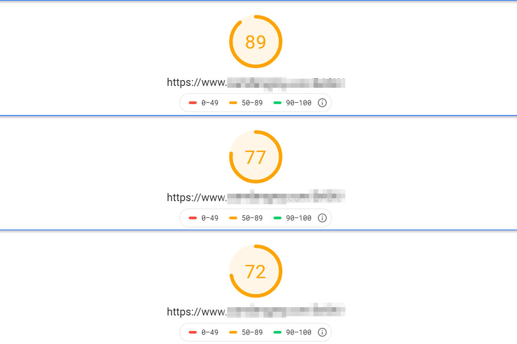 Site speed tests showing different results