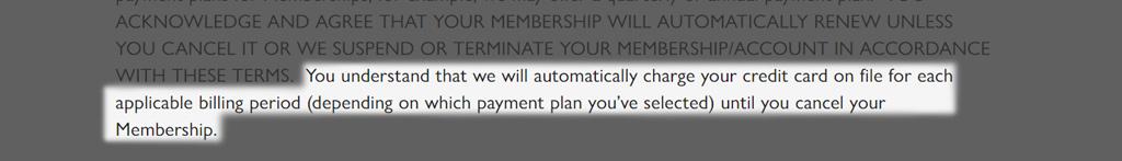 Causebox Membership payment rules
