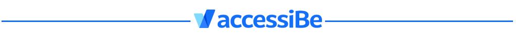AccessiBe Logo divider