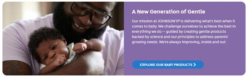 Johnsons Baby Branding