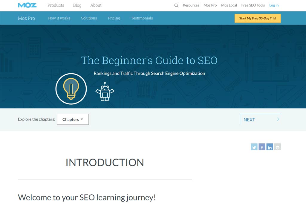 free SEO learning resource