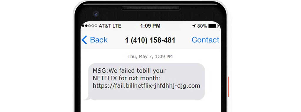 Text scam