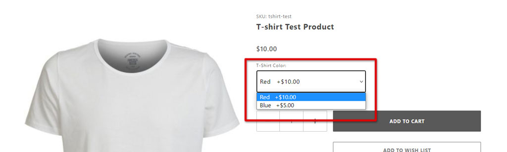 Live product page