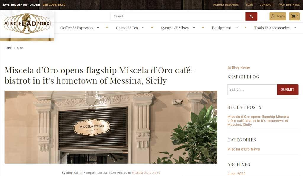 Glendale Designs Miscela d'Oro blog