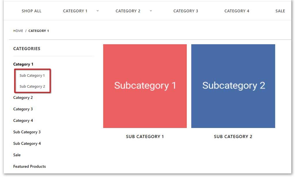 Sort your subcategories 1