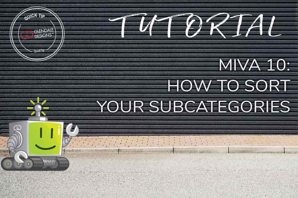 How To Sort Your Subcategories