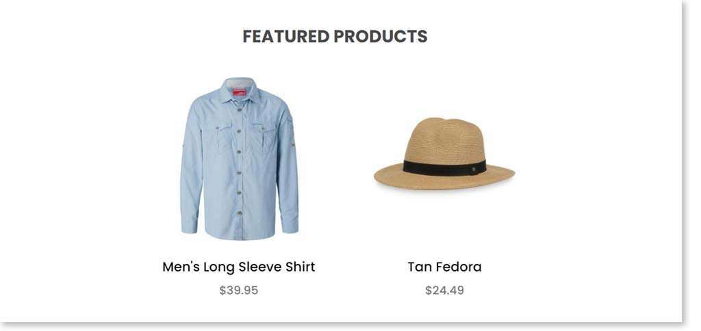 Featured products before