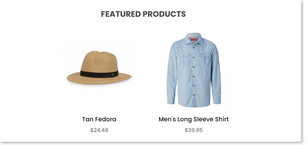 featured products after