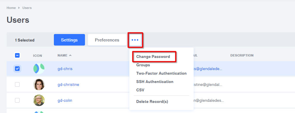 Weekly Security Checkup Change password