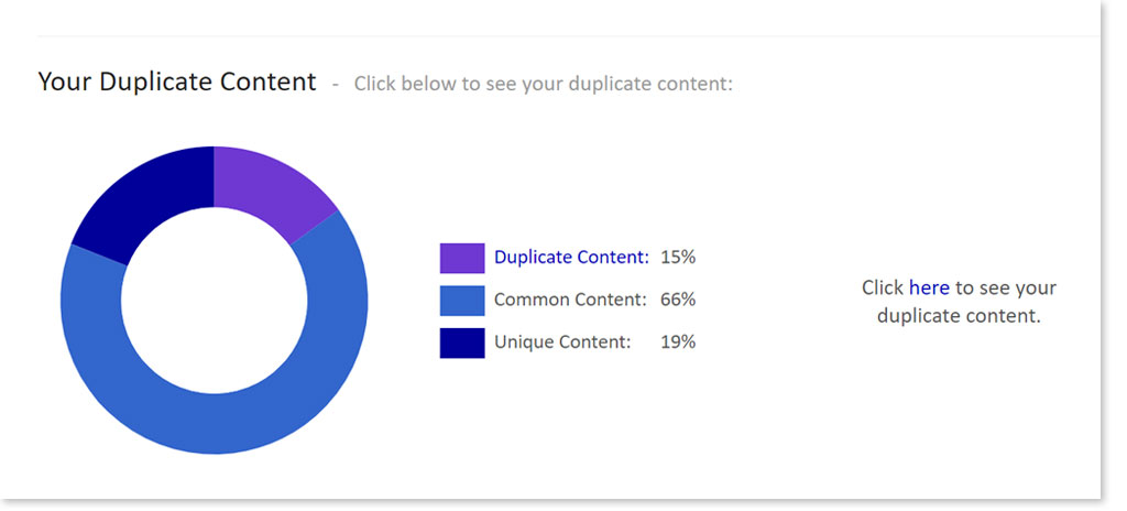 On-Page SEO errors - duplicate content