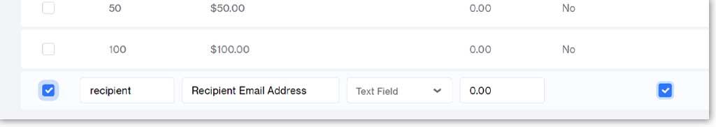 Recipient email address attribute