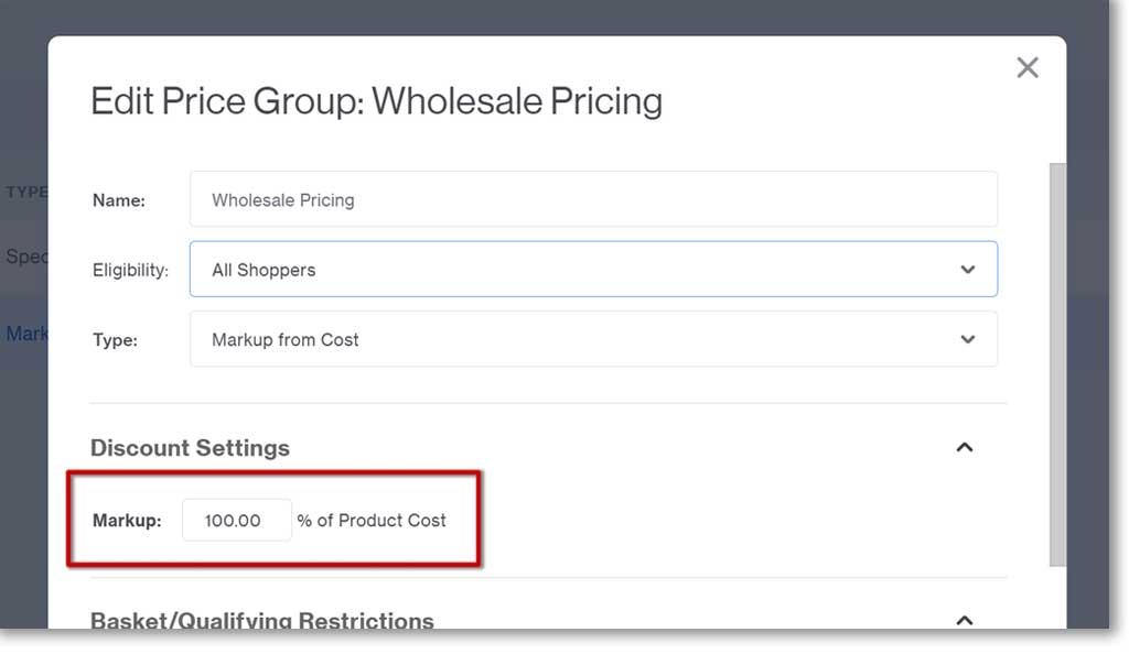 Markup Price Group